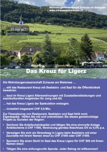 """Flyer Imagekampagne """"Das Kreuz für Ligerz"""""""
